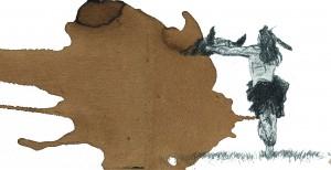 native offering baffalo head detail