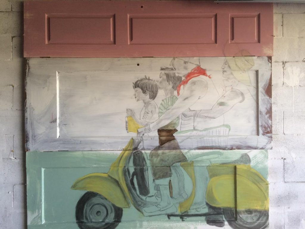 -Italian Art Prints: Commissioned Work For Tutto Pronto | the family coming together | Francesco Galle contemporary art artist prints for sale, Toronto art studio