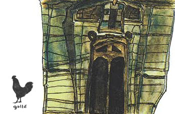 "The Story Behind The Print: The Church Of Serra San Bruno | Detail of ""The Church of Serra San Bruno"" | Francesco Galle contemporary art artist prints for sale, Toronto art studio"