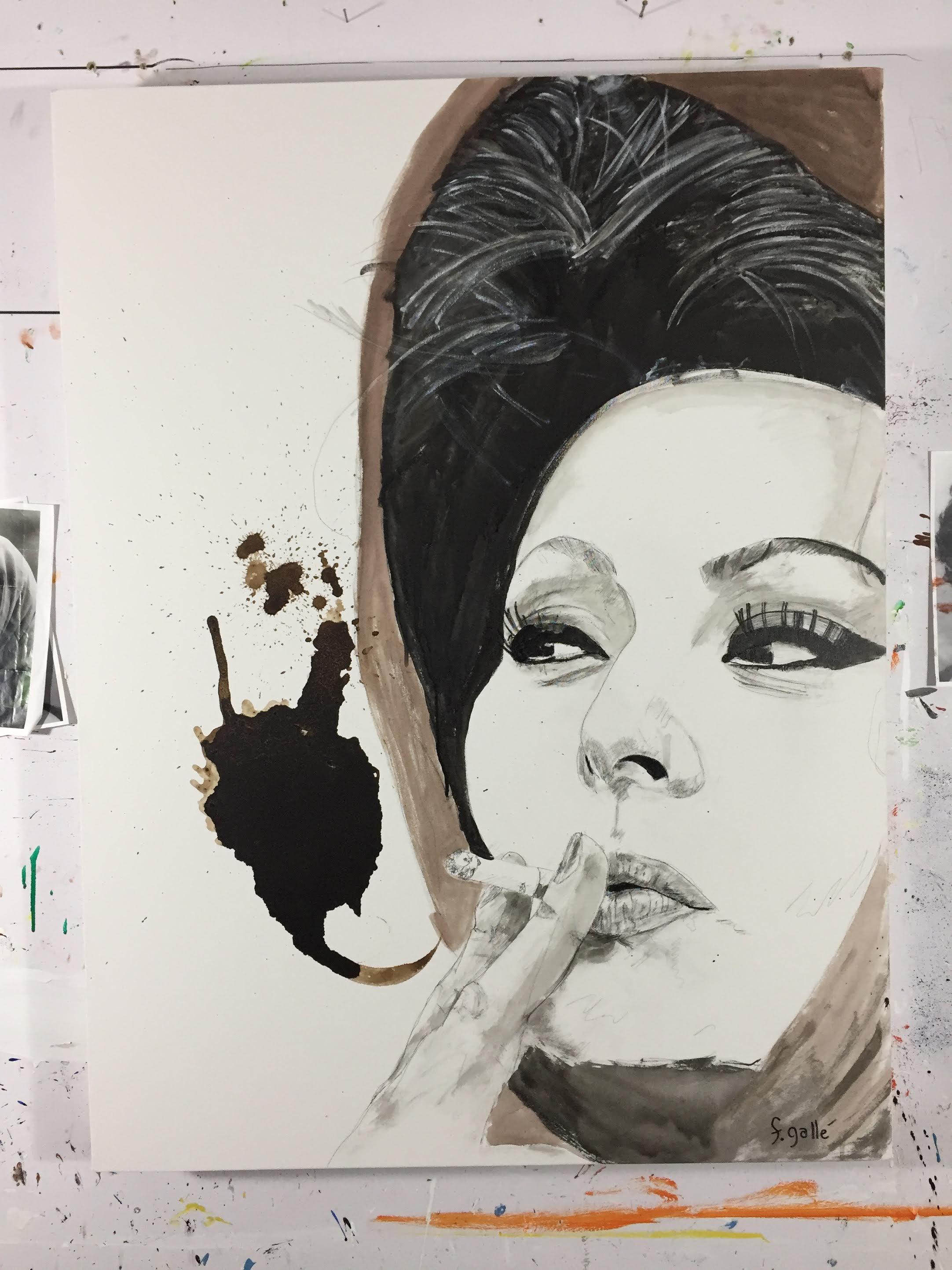 Italian Icons Series: Sofia Loren   the finished product   Francesco Galle contemporary art artist prints for sale, Toronto art studio