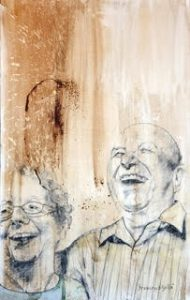 The Story Behind The Portrait Of My Parents   painting of my parents   Francesco Galle contemporary art artist prints for sale, Toronto art studio